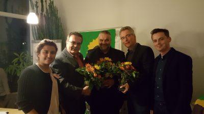 v.l. Nilab Fayaz (Sprcherin), Uwe Welsink (WK 1), Oliver Keymis (WK 3); Hans Christian Markert (WK 2), Christian Gaumitz (Sprecher)