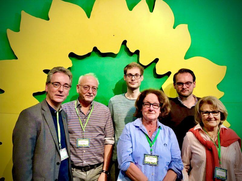 V.l.n.r.: Hans Christian Markert (Gast), Manfred Haag (Delegierter), Simon Rock (Antragsteller) Marianne Michael-Fränzel (Delegierte), Kolja Fußbahn (Delegierter), Angela Stein-Ulrich (Delegierte)