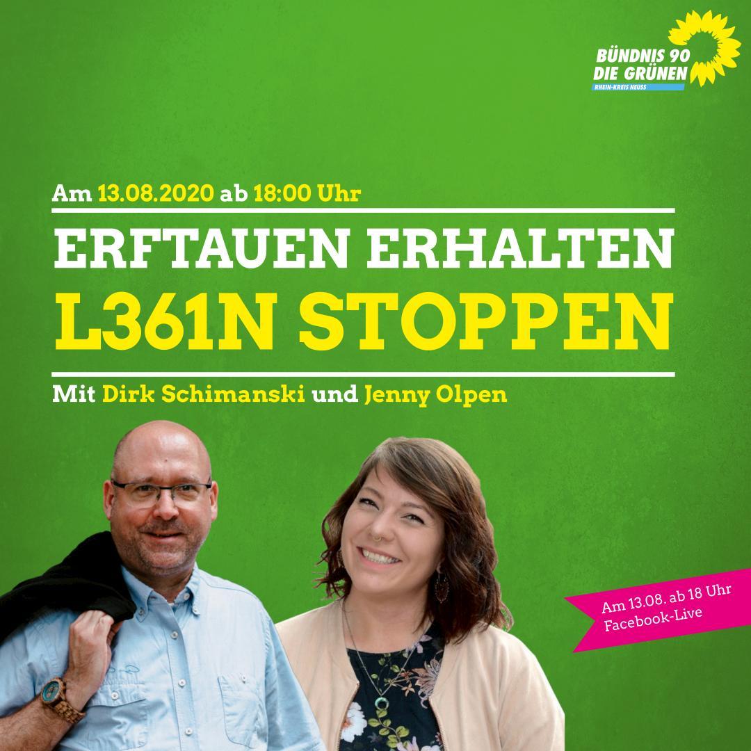 DIGITAL & ANSPRECHBAR: Erftauen erhalten – L361n stoppen!