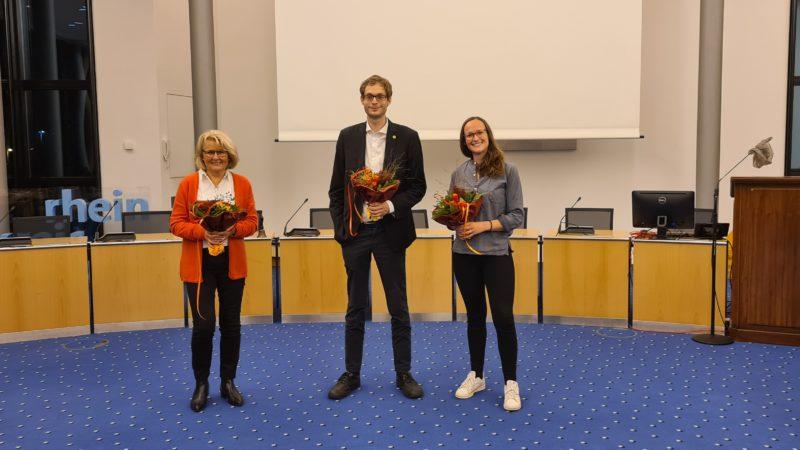 Der neue Fraktionsvorstand. v.l.n.r. Angela Stein-Ulrich, Simon Rock, Swenja Krüppel
