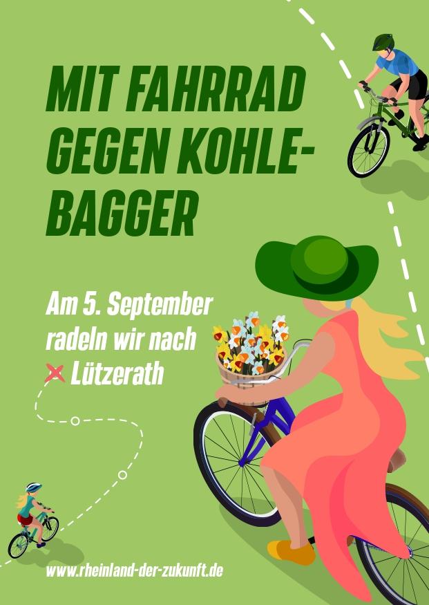 Mit Fahrrad gegen Kohlebagger — Fahrraddemo am 05.09. nach Lützerath